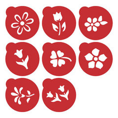 Kit Mini Stencils Flores
