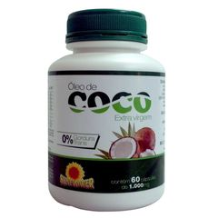 """Sunflower"" Óleo de Coco - 60caps (1000mg)"