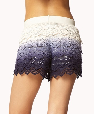 Shorts Crochet Ombre